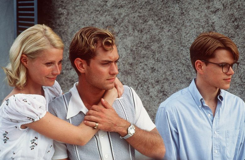 """ADV. FOR WKD. EDS., NOV. 25-28– Gwyneth Paltrow, Jude Law and Matt Damon, from left, appear in a scene from the upcoming movie, """"The Talented Mr. Ripley.""""  The film is scheduled to open Dec. 25. (AP Photo/Phil Bray,HO)NY4690311702005"""