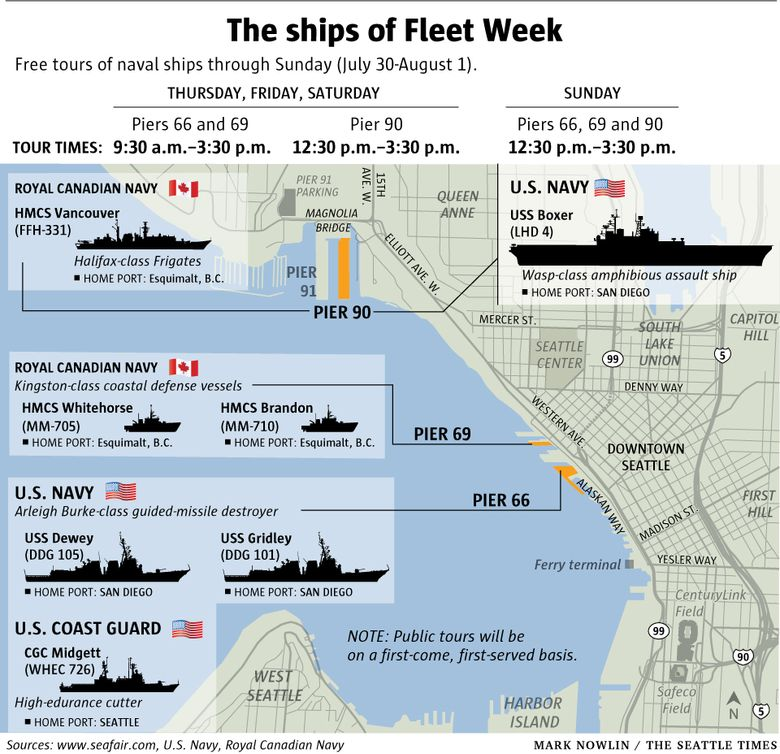 How to visit ships in port for Fleet Week. (Mark Nowlin graphic)