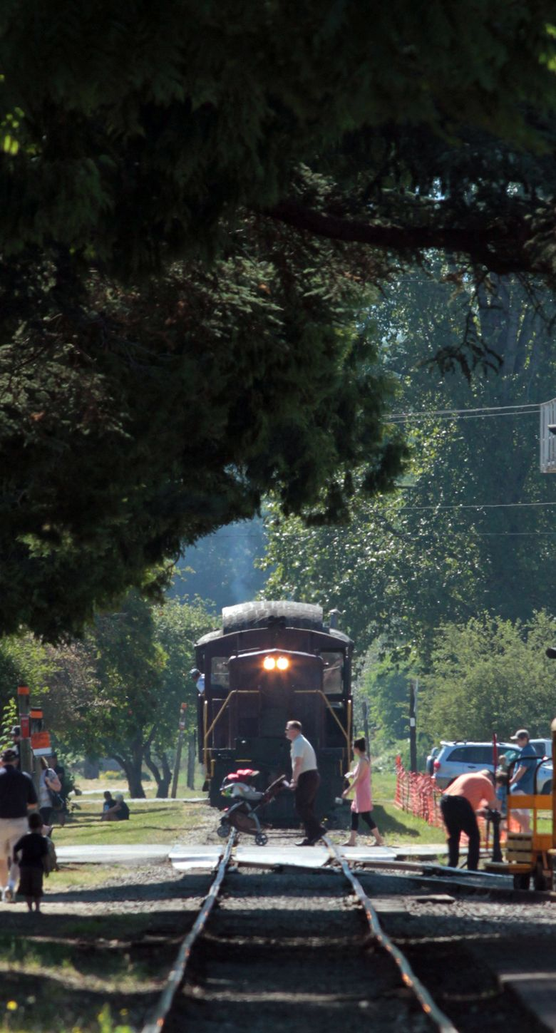Get your ticket to ride on a vintage steam locomotive during Snoqualmie Railroad Days, running Friday-Sunday, Aug. 14-16.  (Alan Berner/The Seattle Times)