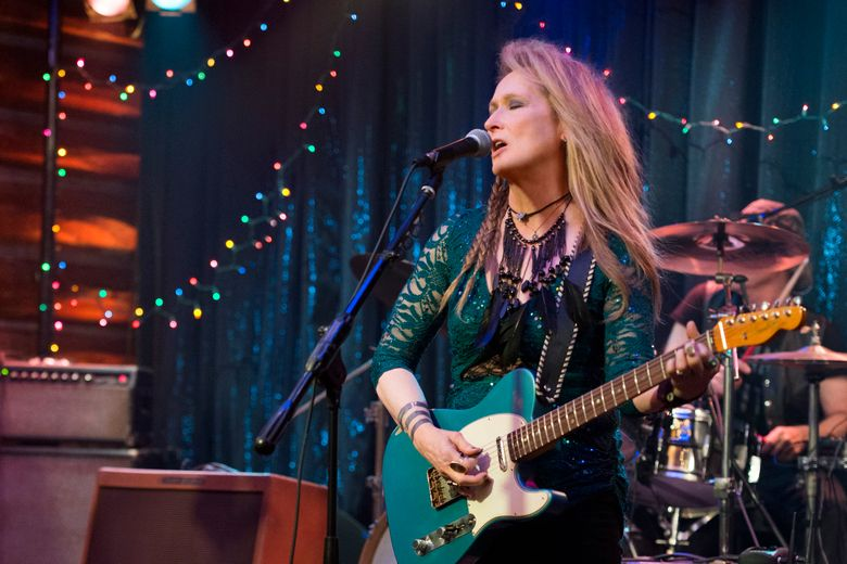 """Meryl Streep plays a singer who left her family to pursue her dream in """"Ricki and the Flash.""""  (Bob Vergara)"""