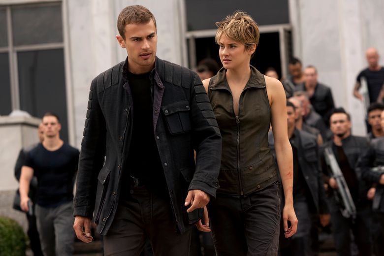"""Theo James and Shailene Woodley return in """"The Divergent Series: Insurgent,"""" the second chapter in the young-adult dystopia trilogy.  (Andrew Cooper)"""