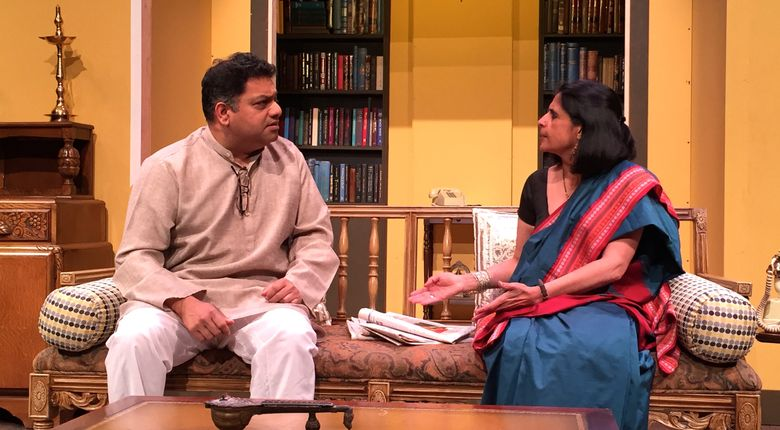 "Abhijeet Rane and Meenakshi Rishi as Jairaj and Ratna in ""Dance Like a Man."""