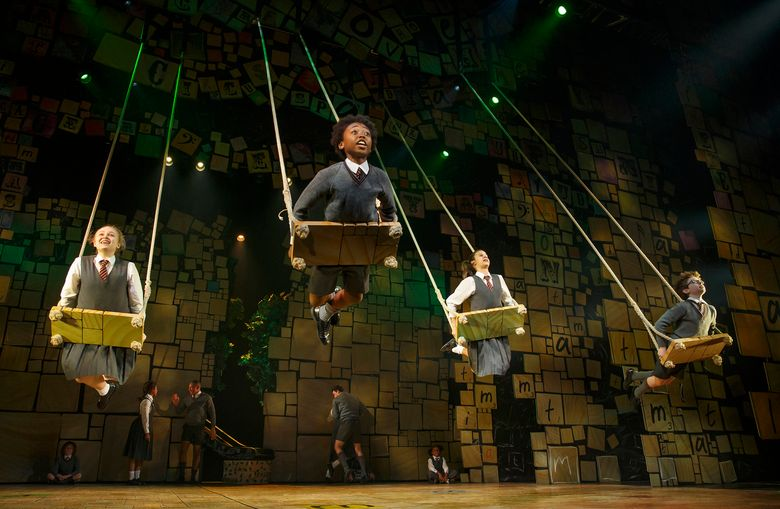 """The cast of """"Matilda"""" performs """"When I Grow Up."""" Based on the Roald Dahl book, the musical plays the 5th Avenue Theatre Aug. 18-Sept. 6."""