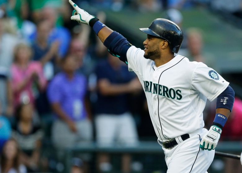 Robinson Cano celebrates after hitting a solo home run in the second inning Sept. 12 at Safeco Field. It was his 16th of the year. (Ted S. Warren/AP)