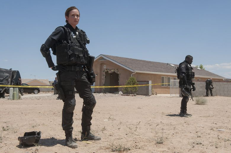 """Emily Blunt infused her FBI character with a sense of toughness and everyday loneliness in the film, """"Sicario."""" (Richard Foreman, Jr.  SMPSP/The Associated Press)"""