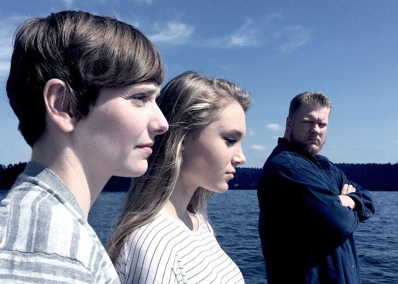 "Lindsay W. Evans, left, Cheyenna Clearbrook and Ryan Schlecht in the drama ""Sound."""