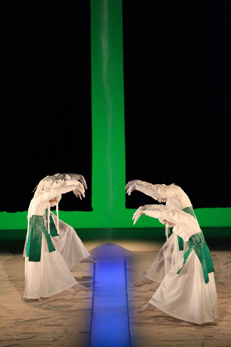 Almost all the dancers with Sankai Juku have been with the troupe for at least 10 years.