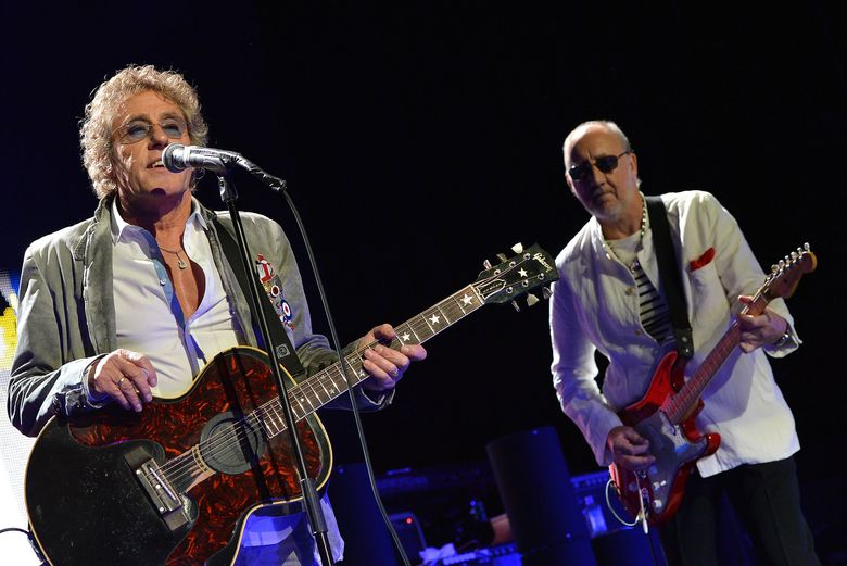 """Roger Daltrey, left, and Pete Townshend will perform at KeyArena on May 15, 2016, part of """"The Who Hits 50"""" tour. (Rick Diamond/Getty Images)"""