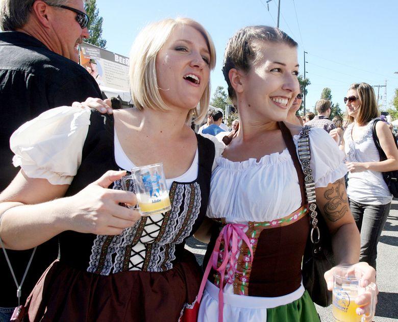 Oktoberfest in Fremont begins Friday, Sept. 18, and runs through Sunday, Sept. 20.  (Alan Berner/The Seattle Times)