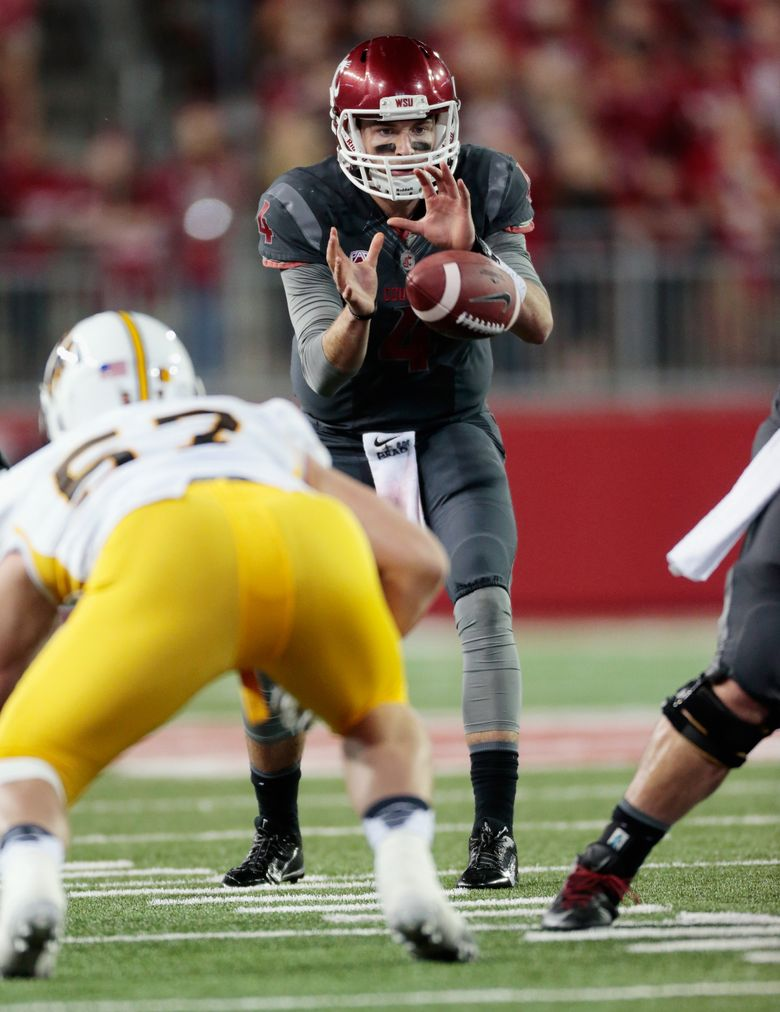 Quarterback Luke Falk and Washington State managed to get by Wyoming on Saturday to improve to 2-1 on the season. (William Mancebo/Getty Images)