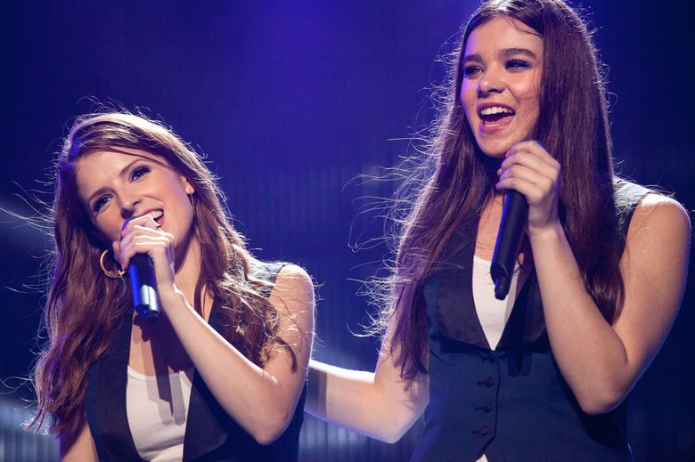 """Anna Kendrick, left, returns as leader of the Barden Bellas and Hailee Steinfeld joins the a cappella group in """"Pitch Perfect 2.""""  (Photo Credit: Richard Cartwright)"""