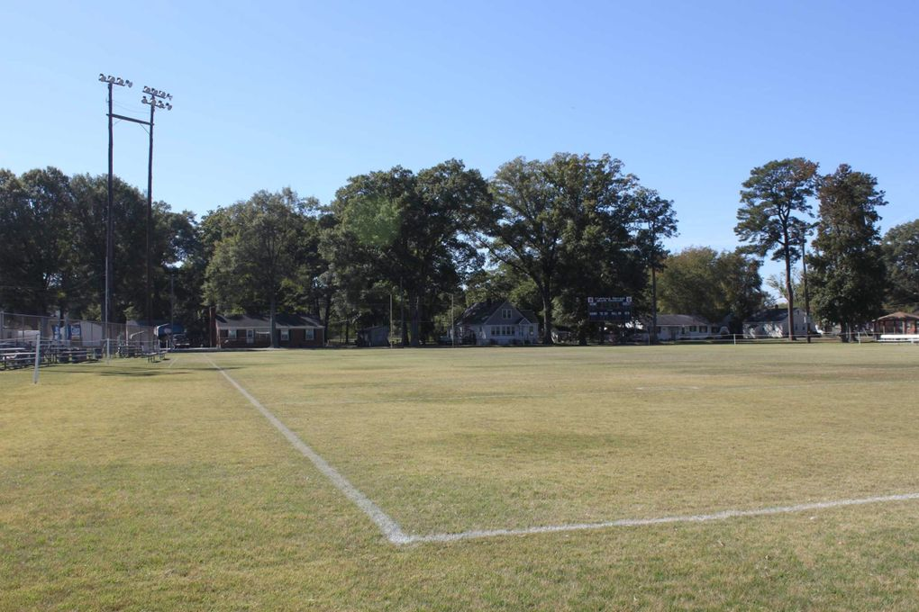 The football field at Highland Springs Park in Richmaond, Virginia. This sis the first field Russell Wilson played on.