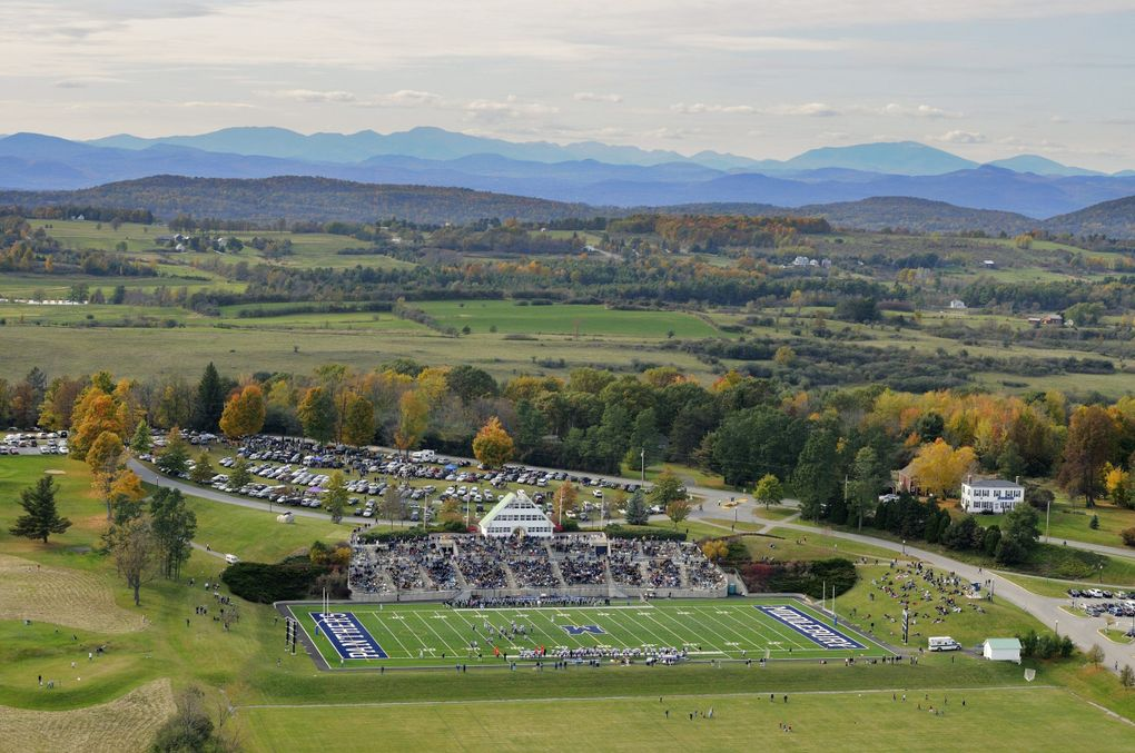 Middlebury College in Middlebury, Vermont. The first football field Steven Hauschka ever played football on.