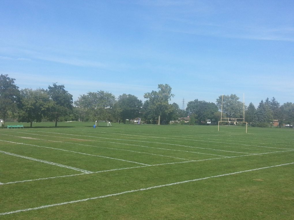 The football fields at Fogolar Furlan in Onterio, Canada.This was the first field Luke Willson ever played on.