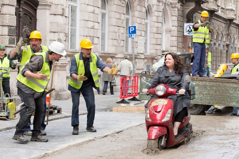 """Melissa McCarthy rides into trouble as a covert agent in the comedy """"Spy.""""  (Photo credit: Larry Horricks)"""