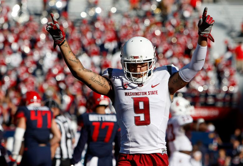 Wide receiver Gabe Marks has been a fiery competitor for Washington State this season. (Rick Scuteri/AP)