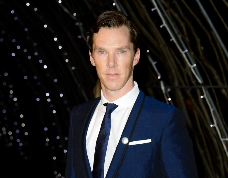 """FILE – In this Feb. 7, 2015 file photo, British actor Benedict Cumberbatch arrives for the British Academy Television Awards 2015 Nominees Party at Kensington Palace in central London. Cumberbatch has broken a record while being filmed playing the lead of """"Hamlet.""""  More than 225,000 viewers watched Cumberbatch tackle the melancholy prince of Denmark at movie theaters around the world on Thursday, Oct. 15, in a telecast from London's Barbican Theatre. (Photo by Jonathan Short/Invision/AP, File)"""