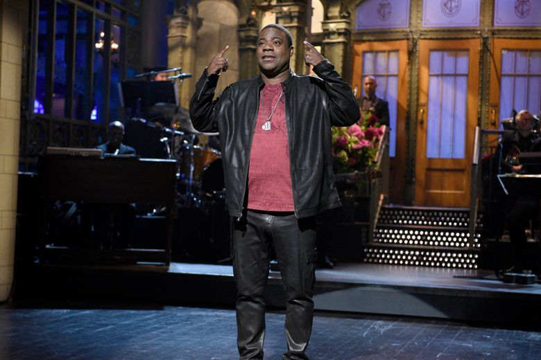 """FILE – In this Saturday, Oct. 17, 2015, file photo, provided by NBC, actor and comedian Tracy Morgan speaks during a monologue on """"Saturday Night Live,"""" in New York. After renewing his comedy career with appearances on """"Saturday Night Live"""" and at the Emmy Awards, Morgan will launch a standup tour at venues around the country this winter. The """"Tracy Morgan: Picking Up the Pieces"""" tour is set to begin Feb. 5, 2016, at the Horseshoe Casino in Hammond, Ind., it was announced on Tuesday, Oct. 20, 2015.  (Dana Edelson/NBC via AP, File)"""