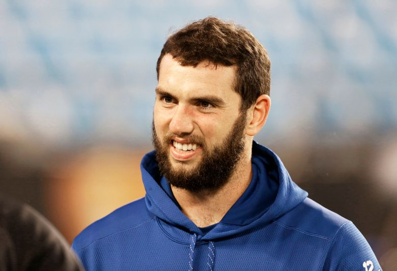 Indianapolis Colts QB Andrew Luck. (Bob Leverone/The Associated Press)