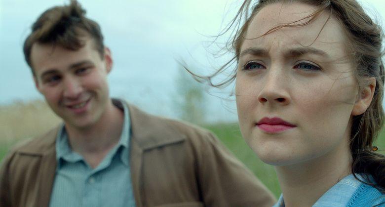 "A young Irish immigrant (Saoirse Ronan) falls in love with an Italian American (Emory Cohen) in ""Brooklyn."""