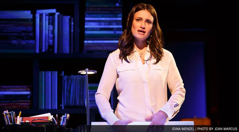 """Idina Menzel, who played the lead role on Broadway in """"If/Then,"""" is also in the touring production of the Brian Yorkey/Tom Kitt show, now at the Paramount in Seattle."""