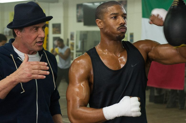 """Sylvester Stallone returns as Rocky Balboa, who agrees to train Apollo Creed's son (Michael B. Jordan) in """"Creed."""" (Barry Wetcher/Barry Wetcher)"""