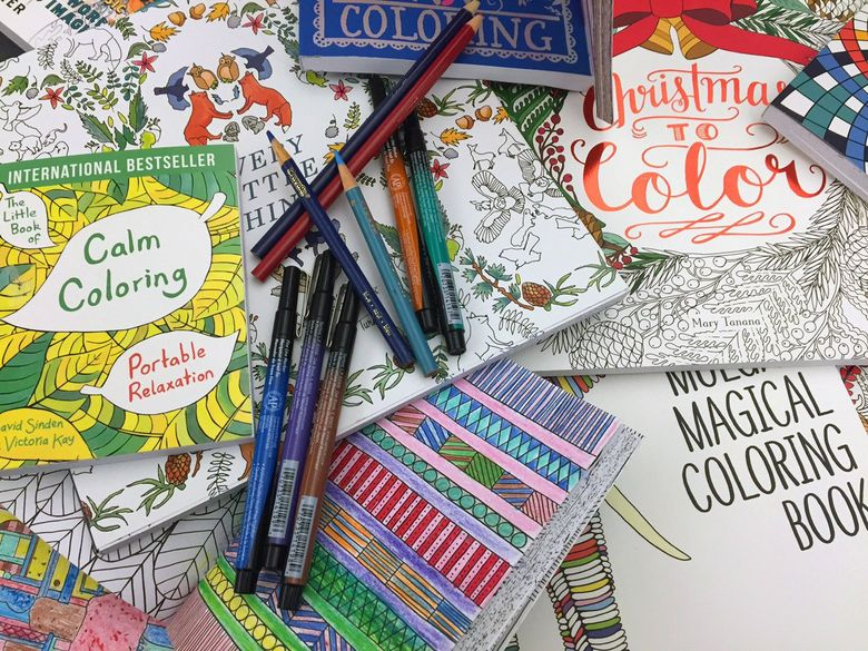Coloring books for grown-ups proved incredibly popular in 2015, contributing to an uptick in sales of paper editions of books. (Leanne Italie/The Associated Press)
