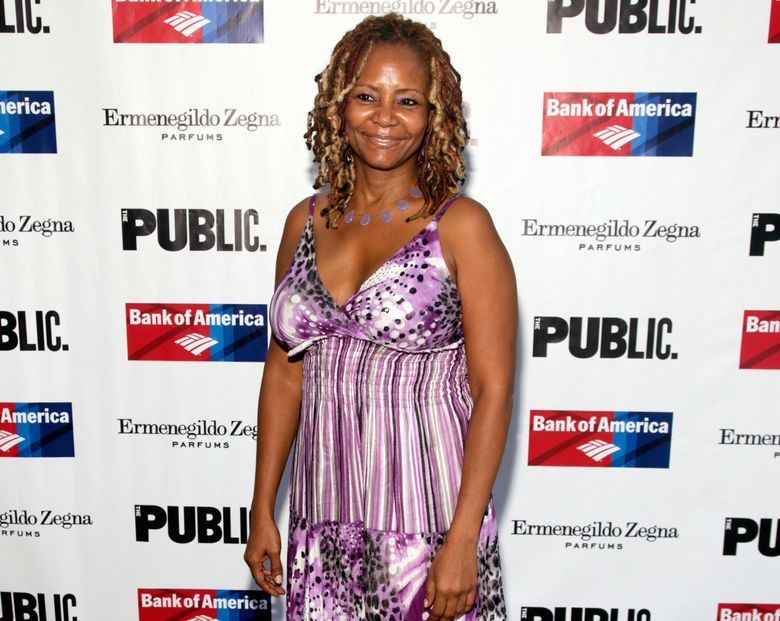 """FILE – In this Aug. 5, 2014 file photo, actress Tonya Pinkins attends the opening night of """"King Lear,"""" in New York. Bertolt Brecht's epic play """"Mother Courage and Her Children"""" may be about the horrors of war, but a new off-Broadway production is revealing real conflict offstage, too. Tony Award-winning actress Pinkins said she will leave the Classic Stage Company's revival on Jan. 5, 2016, claiming the part has been """"neutered"""" and created through """"the filter of the white gaze."""" (Photo by Andy Kropa/Invision/AP, File)"""