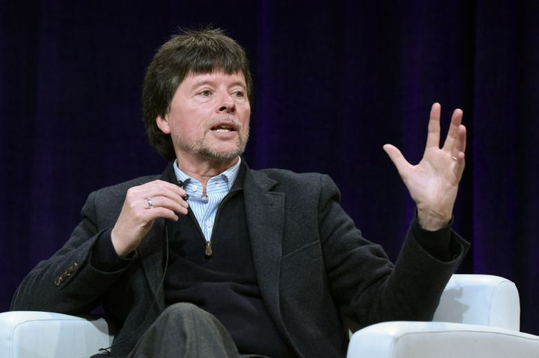 """FILE – In this Jan. 18, 2016 file photo, filmmaker Ken Burns participates in the """"Jackie Robinson"""" panel at the PBS Winter TCA in Pasadena, Calif. Burns has been chosen to deliver the 2016 Jefferson Lecture in the Humanities, according to the National Endowment for the Humanities, which produces the event. He will deliver the lecture May 9 at Washington's John F. Kennedy Center for the Performing Arts. (Photo by Richard Shotwell/Invision/AP, File)"""