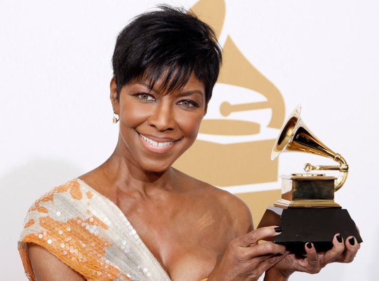 FILE – In a Sunday, Feb. 8, 2009 file photo, Natalie Cole holds the best instrumental arrangement accompanying vocalist award backstage at the 51st Annual Grammy Awards, in Los Angeles. Cole's family said the singer's cause of her death on Dec. 31, 2015, was idiopathic pulmonary arterial hypertension, which led to heart failure. (AP Photo/Matt Sayles, File)