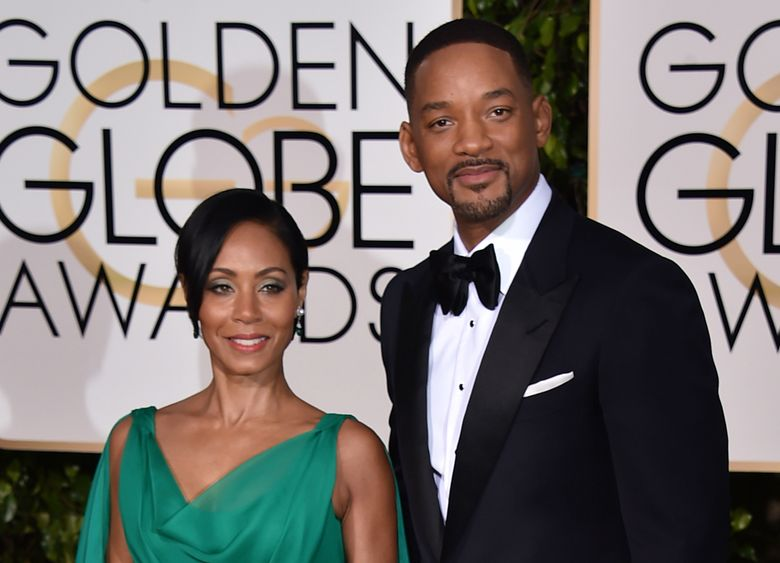 Jada Pinkett Smith, left, and Will Smith arrive at the 73rd annual Golden Globe Awards on Sunday, Jan. 10, 2016, at the Beverly Hilton Hotel in Beverly Hills, Calif. (Jordan Strauss / Invision / AP)