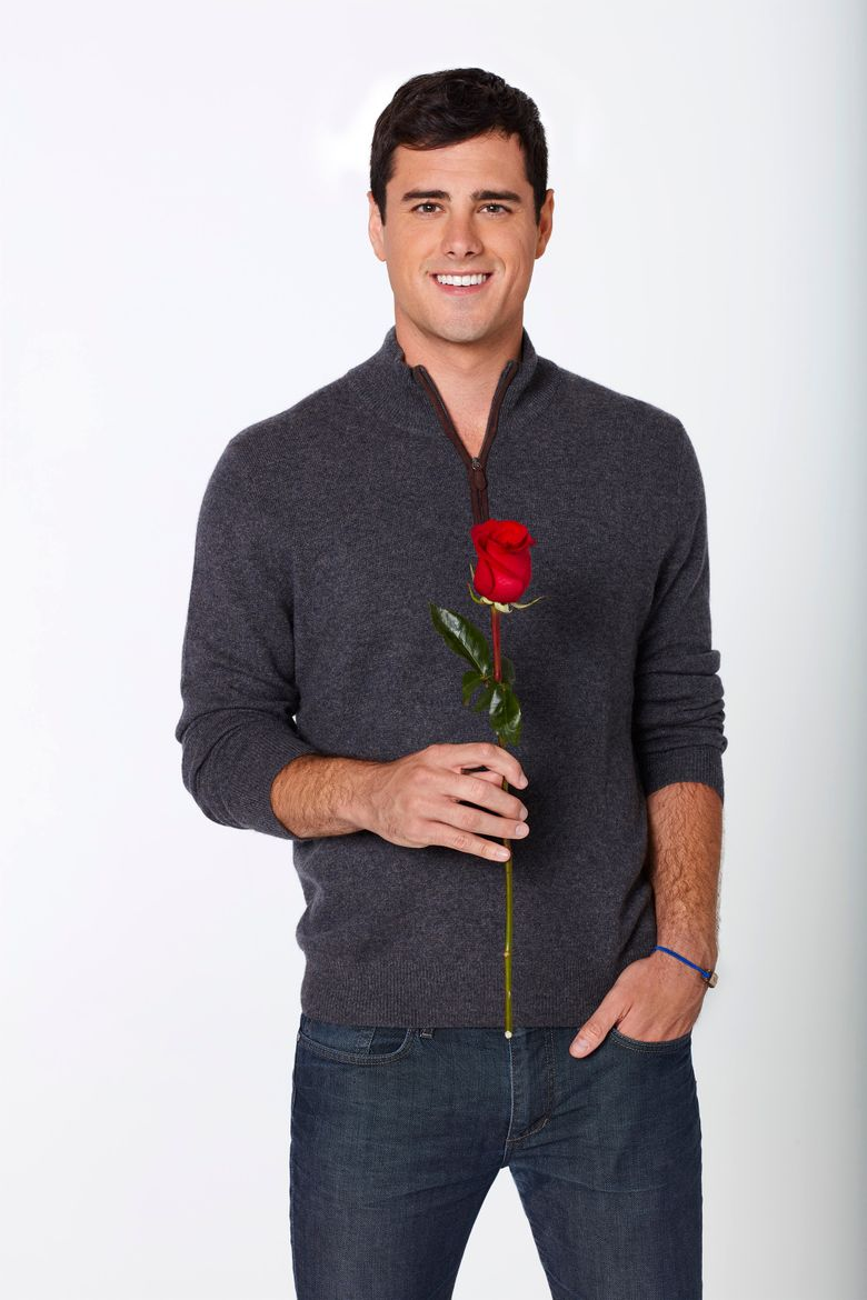 """This image released by ABC shows 26-year-old Denver-based business analyst Ben Higgins, the latest bachelor on the ABC romance competition series """"The Bachelor,"""" airing Mondays on ABC.  (ABC/Craig Sjodin)"""