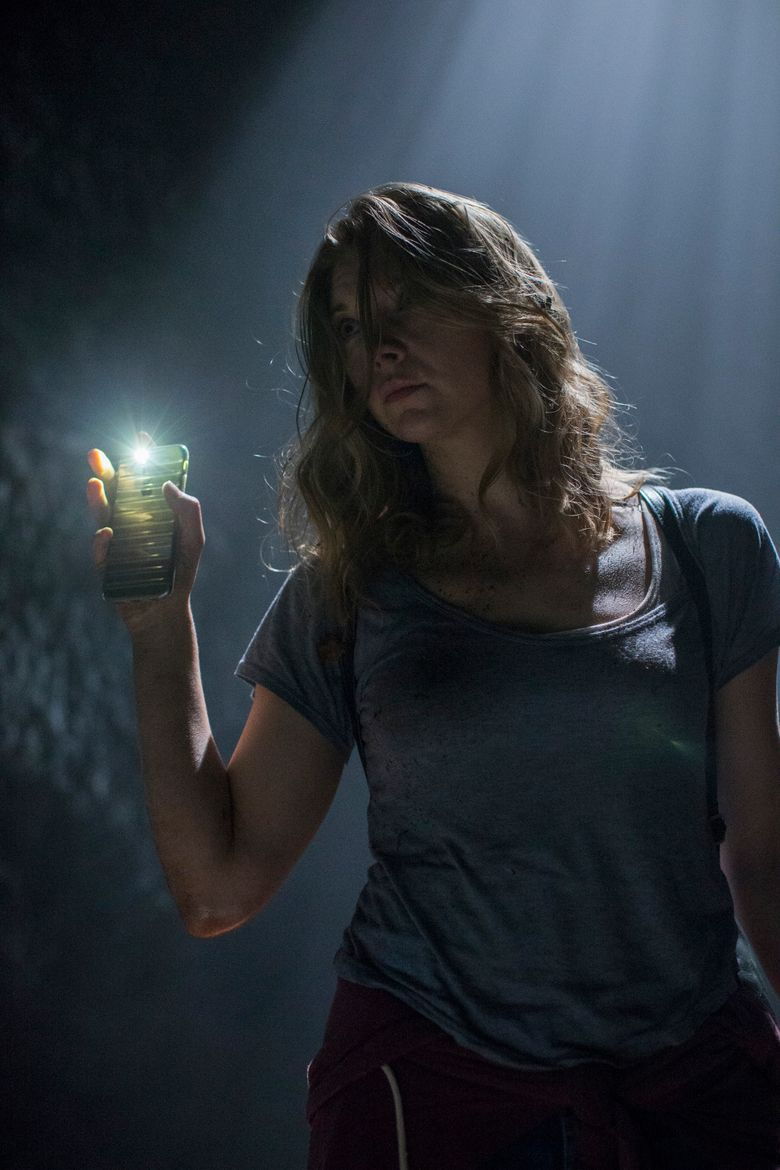 """Sara (Natalie Dormer) searches for her twin sister in a haunted Japanese wood in """"The Forest."""" (James Dittiger/AP)"""