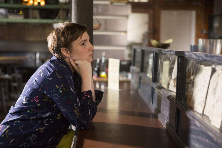 "Lena Dunham in a scene from the HBO original series, ""Girls."" (HBO via AP)"