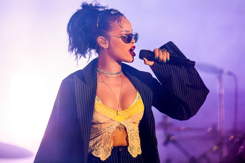 FILE – In this Oct. 24, 2015 file photo, Rihanna performs at the 2015 We Can Survive Concert at the Hollywood Bowl in Los Angeles. Rihanna will perform at the Grammy Awards on Feb. 15, 2016. (Photo by Rich Fury/Invision/AP, File)