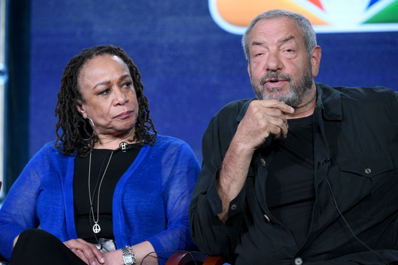 """FILE – In this Jan. 13, 2016 file photo, S. Epatha Merkerson, left, and executive producer Dick Wolf participate in the """"Chicago Fire,"""" """"Chicago P.D."""" and """"Chicago Med"""" panel at the NBCUniversal Winter TCA in Pasadena, Calif. NBC has signed a new production deal with prolific producer Dick Wolf, ensuring an 18th season of """"Law & Order: SVU"""" and the continuation of his Chicago trilogy of dramas.The deal, announced on Monday, Feb. 1, binds Wolf with NBC Universal through 2020, by which time he will likely have even more programs on the network's schedule. (Photo by Richard Shotwell/Invision/AP, File)"""
