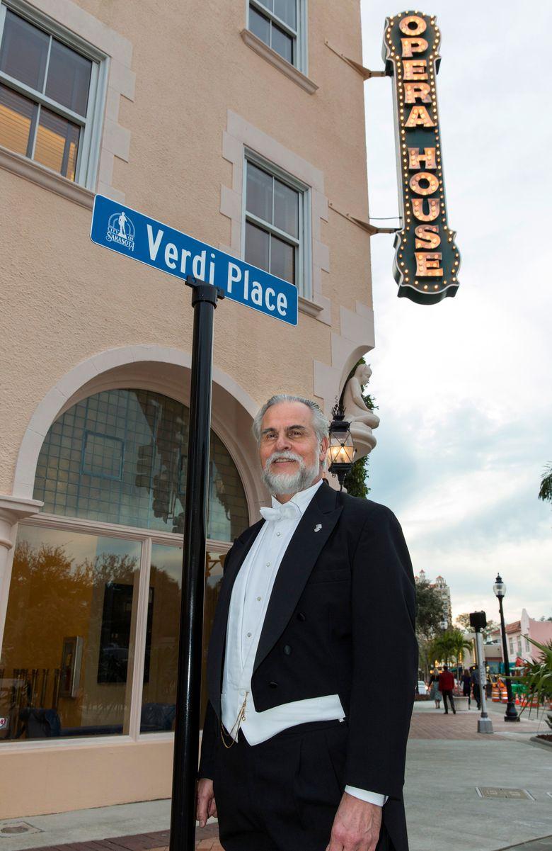 "This undated image released by the Sarasota Opera shows, artistic director Victor DeRenzi in Sarasota, Fla. The opera house will perform Giuseppe Verdi's ""La Battaglia di Legnano"" (""The Battle of Legnano"") later this month. (Rod Millington/Sarasota Opera via AP)"