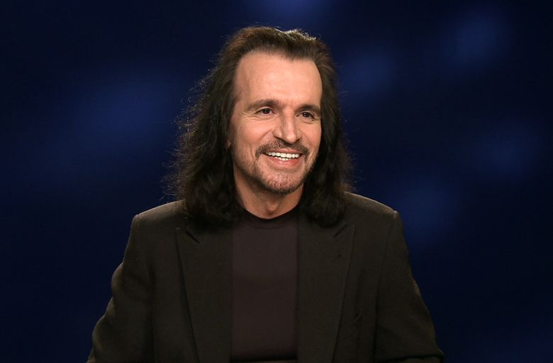 """In this Jan. 28, 2016 photo taken from video, Greek musician Yanni appears during an interview in New York. Yanni, who is currently on tour and has a new album, """"Sensuous Chill,"""" will debut a PBS special in March of a recent performance in Egypt at the Great Pyramids of Giza. (AP Photo/Bruce Barton)"""