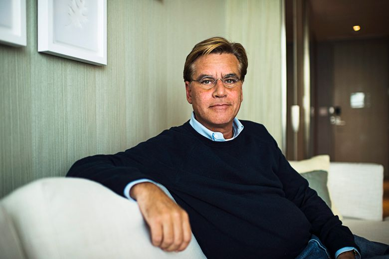 """Screenwriter Aaron Sorkin poses for a photo while promoting his movie """"Steve Jobs,"""" in Toronto.  (Aaron Vincent Elkaim/The Canadian Press via AP, File)"""