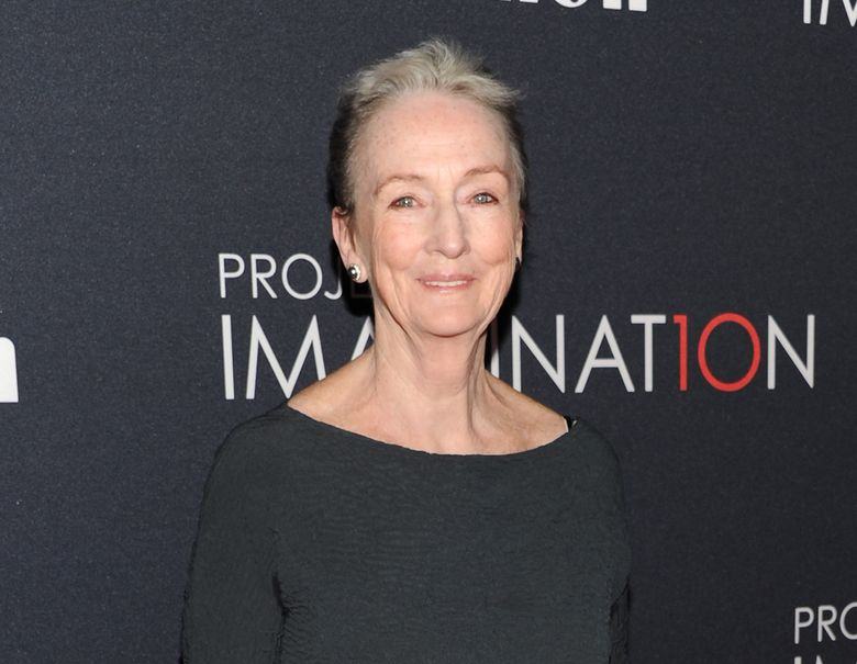 """FILE – In this Oct. 24, 2013 file photo, Kathleen Chalfant attends the global premiere of Canon's """"Project Imaginat10n"""" Film Festival in New York. Chalfant and press agent Sam Rudy will be celebrated at the Vineyard Theatre's March 14 fundraiser gala at Edison Ballroom. Individual tickets start at $1,000 and tables start at $10,000. Scott Schwartz will direct and Paul Masse will be the music director. (Photo by Evan Agostini/Invision/AP, File)"""