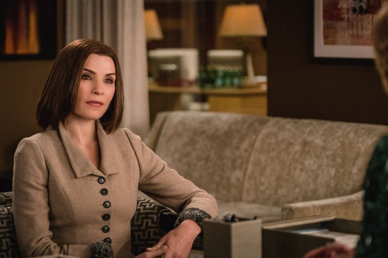 """This image provided by CBS shows, Julianna Margulies as Alicia Florrick in a scene from """"The Good Wife."""" Show creators Robert and Michelle King say they welcomed CBS' decision to end the series, allowing them to write its final chapter.  On Sunday, Feb. 7, 2016, the network used its Super Bowl telecast to announce that """"The Good Wife"""" was heading into its final nine episodes, with the series finale to air May 8.  (Michael Parmelee/CBS via AP)"""