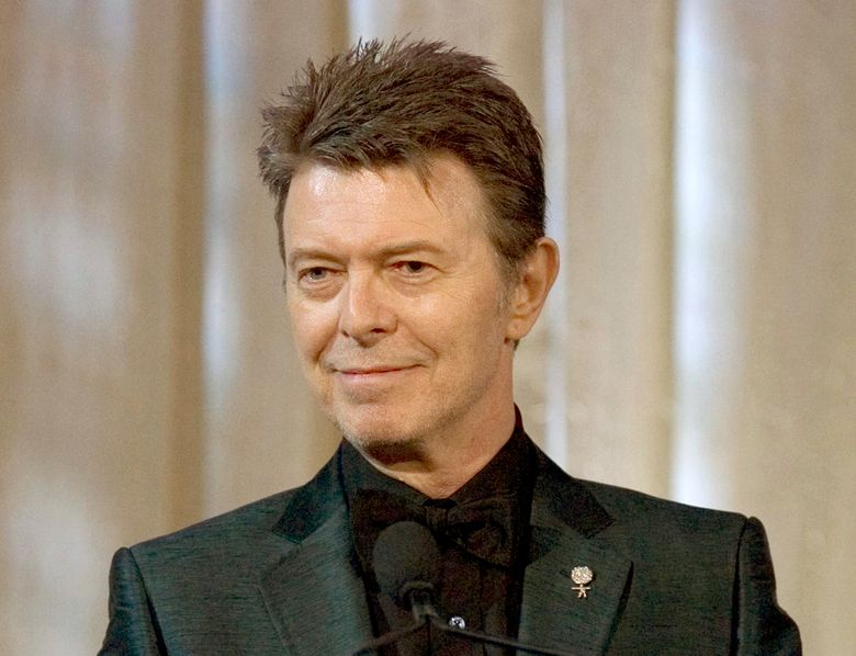 FILE – In this June 5, 2007 file photo, David Bowie attends an awards show in New York. The American Library Association said Wednesday, Feb. 3, 2016, that it has reissued a popular Bowie READ poster from 1987, part of the association's program of using celebrities to promote literacy. Bowie, an avid reader, died last month at age 69. (AP Photo/Stephen Chernin, File)