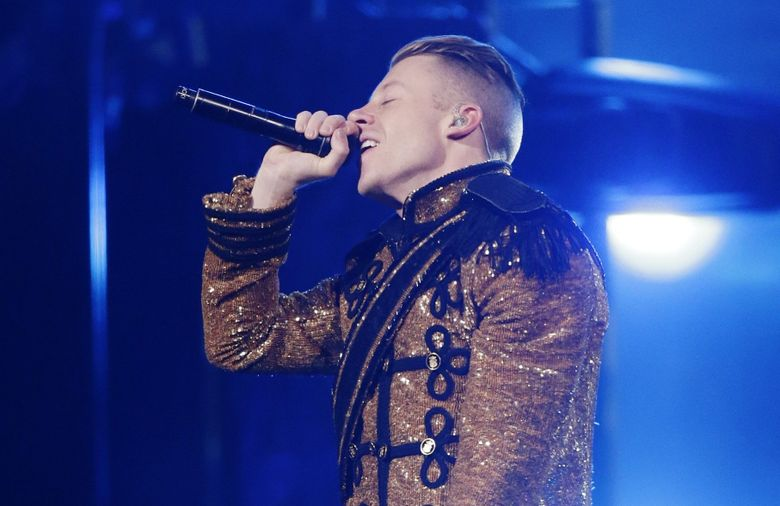 Seattle rapper Macklemore, pictured here at KeyArena, and Ryan Lewis, his producer, will perform at Bumbershoot 2016.  (Bettina Hansen / The Seattle Times)