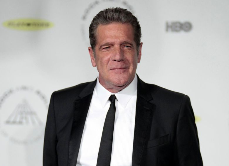 FILE – In this April 10, 2014 file photo, Glenn Frey appears at the 2014 Rock and Roll Hall of Fame Induction Ceremony in New York. Singer and songwriter Jackson Browne will join members of the Eagles to give a tribute to the band's founding member Glenn Frey during 58th annual Grammy Awards on Feb. 15, 2016. Frey died Jan. 18 of complications from rheumatoid arthritis, acute ulcerative colitis and pneumonia at the age of 67.  (Photo by Andy Kropa/Invision/AP, File)