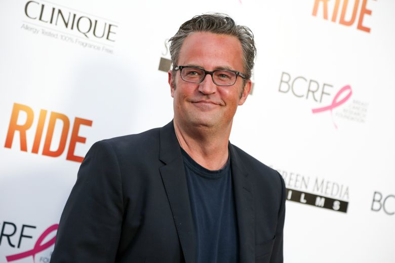 """FILE – In this April 28, 2015, file photo, Matthew Perry arrives at the LA Premiere of """"Ride"""" at The Arclight Hollywood Theater in Los Angeles. Former """"Friends"""" star Perry will play Ted Kennedy in the forthcoming miniseries """"The Kennedys _ After Camelot."""" Reelz cable channel on Tuesday, March 15, 2016, announced his casting for the four-hour project, a follow-up to the miniseries """"The Kennedys."""" (Photo by Rich Fury/Invision/AP, File)"""