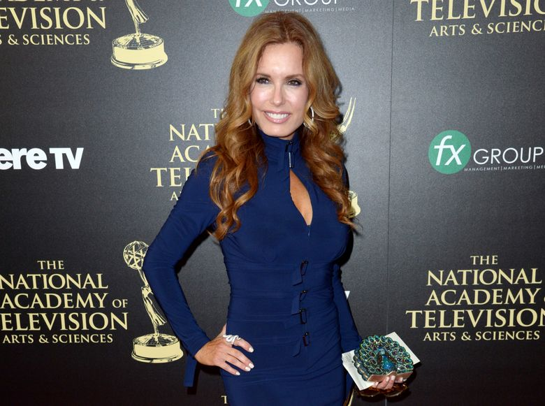 """FILE – In this June 22, 2014 file photo, actress Tracey E. Bregman, from """"The Young and the Restless,"""" arrives at the 41st annual Daytime Emmy Awards in Beverly Hills, Calif. Bregman was nominated for an Emmy award for outstanding lead actress in a drama series on Thursday, March 24, 2016, for her role on the daytime drama on CBS. CBS led with 77 nominations overall while its daytime drama """"The Young and the Restless"""" led with 27 nods. The 43rd Annual Daytime Emmy awards will be held on May 1. (Photo by Richard Shotwell/Invision/AP, File)"""