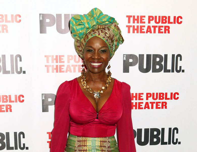 """FILE – In this Oct. 14, 2015 file photo, Akosua Busia attends the opening night celebration of """"Eclipsed"""" at The Public Theater in New York. Busia, an actress and novelist, is the daughter of a Ghanaian prime minister and mother of a daughter with her ex-husband, """"Boyz N the Hood"""" director John Singleton. (Photo by Greg Allen/Invision/AP, File)"""