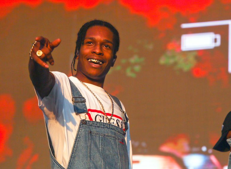 FILE – In this Oct. 10, 2015 file photo, A$AP Rocky performs at the Austin City Limits Music Festival in Austin, Texas. MTV announced Wednesday, March 2, 2016, that A$AP Rocky will host the 12th annual Woodie Awards on March 16 at the South by Southwest music festival in Austin, Texas. (Photo by Jack Plunkett/Invision/AP, File)