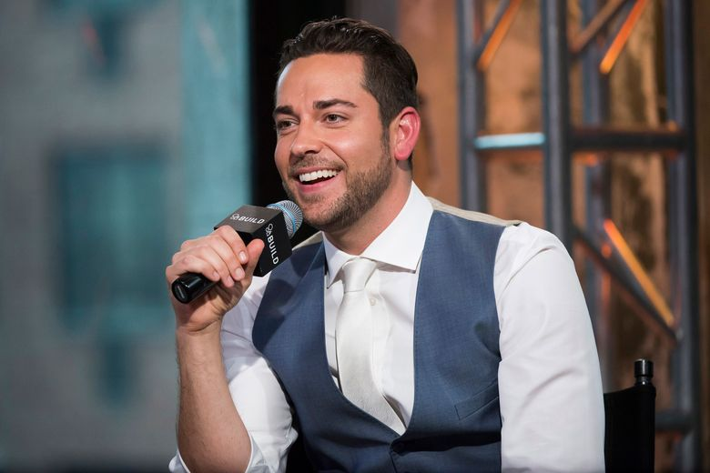 """FILE- In this June 6, 2015, file photo, Zachary Levi participates in AOL's BUILD Speaker Series to discuss his company and website """"The Nerd Machine"""" at AOL Studios in New York. Levi, is starring in a revival of """"She Loves Me,"""" considered by many to be the most charming musical ever written. (Photo by Charles Sykes/Invision/AP, File)"""