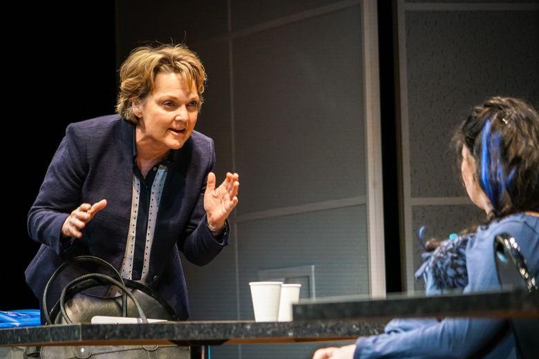 "Pamela Reed, left, and Hannah Mootz in ""Luna Gale"" at Seattle Rep. (Alan V. Alabastro)"